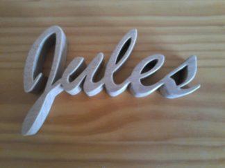Lettrage Jules